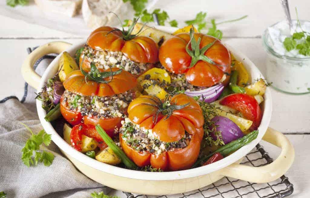 Gefüllte Tomaten mit Ofengemüse aus dem Thermomix® – Foto: Frauke Antholz