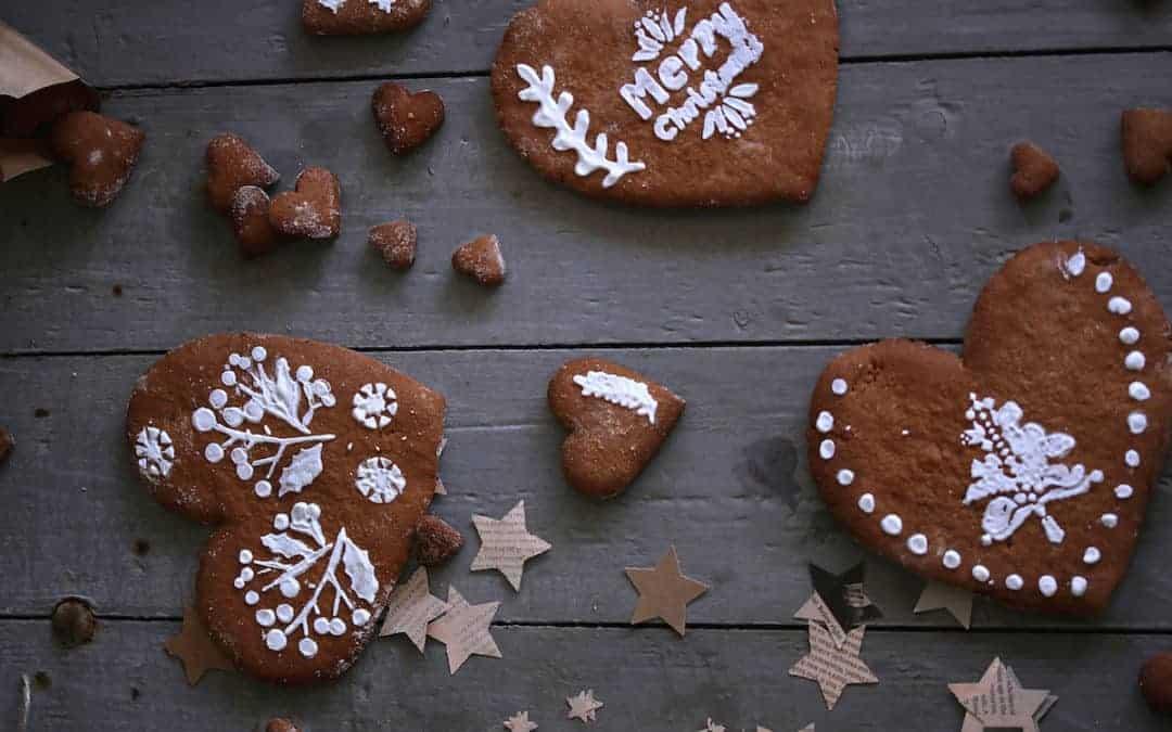 Wie auf dem Weihnachtsmarkt: Lebkuchenherzen