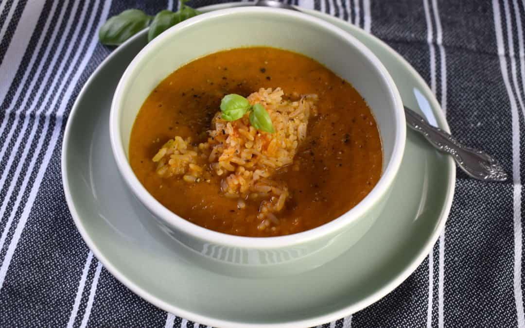 Frische Tomatensuppe mit Ingwer und Reis für den Thermomix®