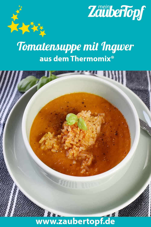 Tomatensuppe mit Ingwer und Reis – Foto: Nicole Stroschein