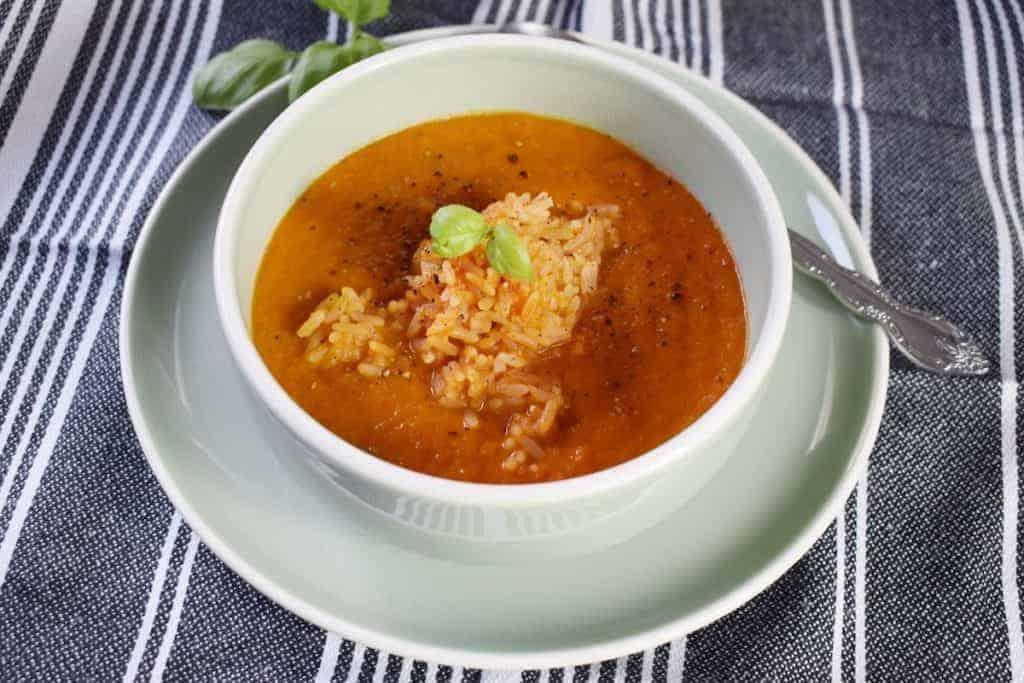 Tomatensuppe mit Reis aus dem Thermomix® – Foto: Nicole Stroschein
