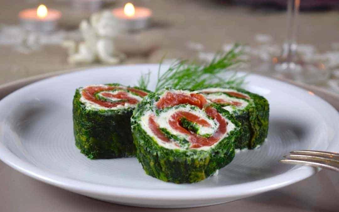 Vorspeise aus dem Zaubertopf: Spinat-Lachs-Rolle