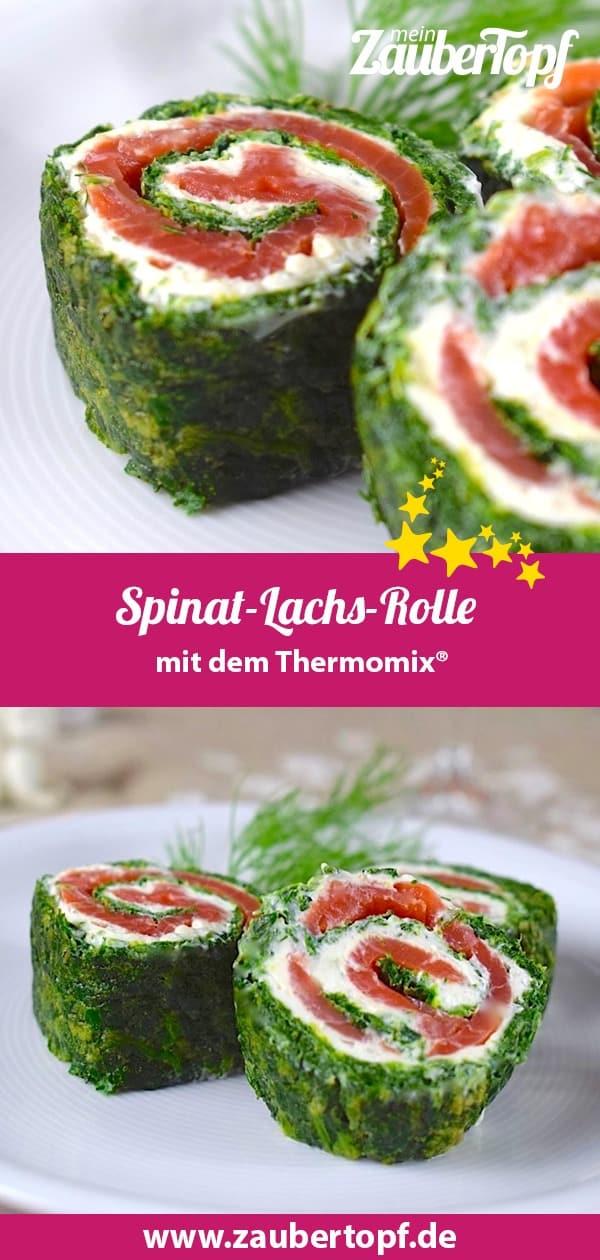 Spinat-Lachs-Rolle, Rezept für den Thermomix® – Foto: Nicole Stroschein