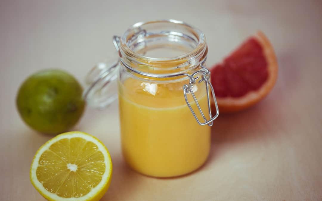 Lemon Curd mit Limette und Grapefruit