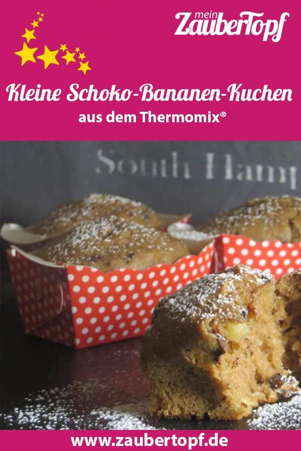 Kleine Schoko Bananen Kuchen Mein Zaubertopf