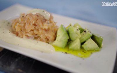 Lachs-Tatar mit Avocado und Limetten-Mayonnaise