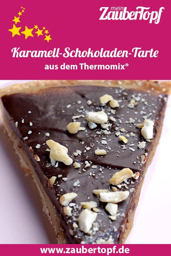 Karamell-Schokoladen-Tarte aus dem Thermomix® – Foto: Nicole Stroschein