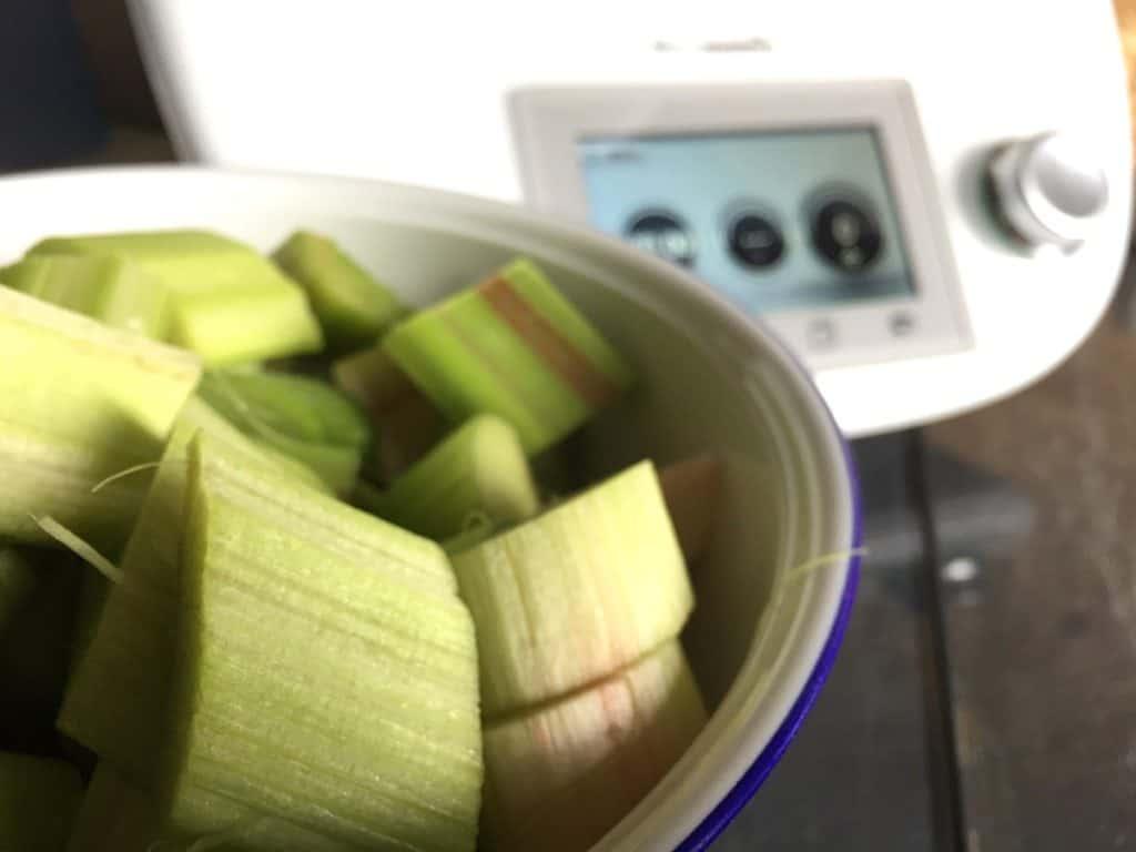 Rhabarberkompott mit Vanillesoße aus dem Thermomix® – Foto: Nicole Stroschein