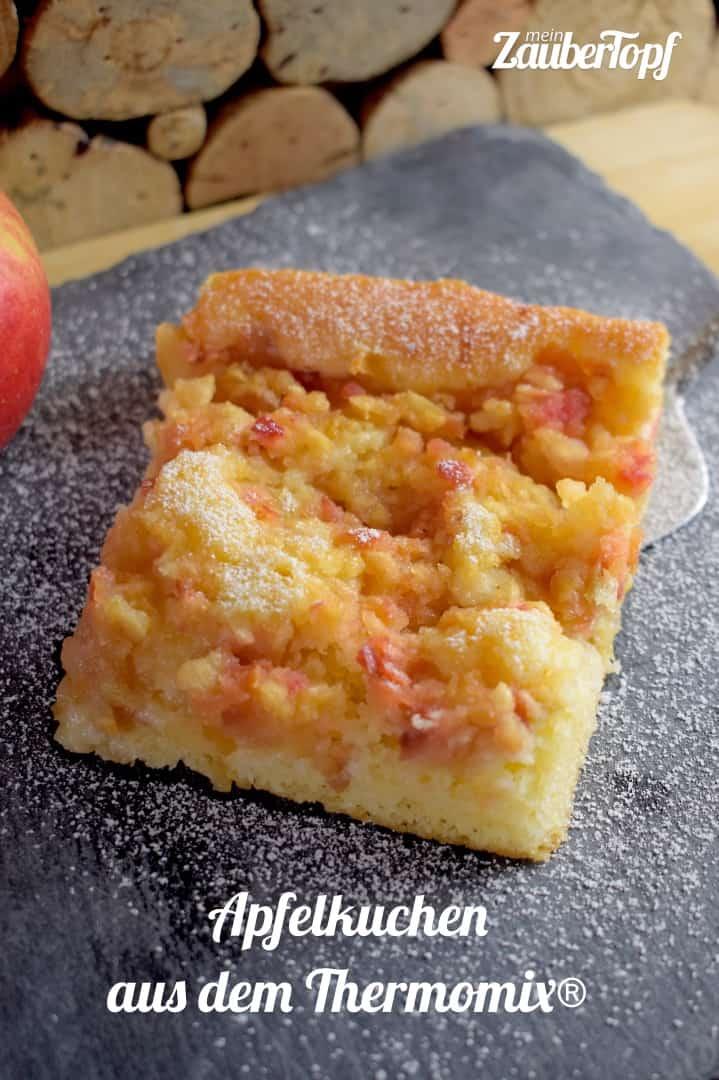 Schneller Apfelkuchen Vom Blech Aus Dem Thermomix Mein Zaubertopf