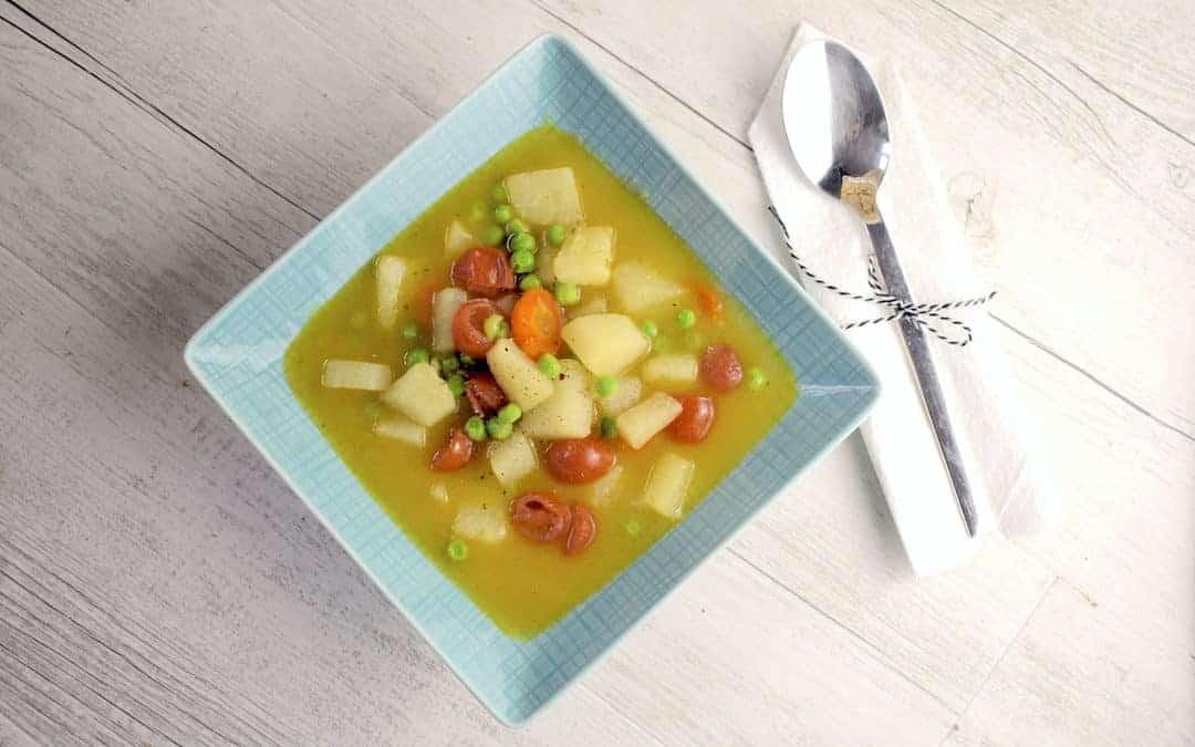 Bunte Gemüsesuppe mit Curry aus dem Thermomix®
