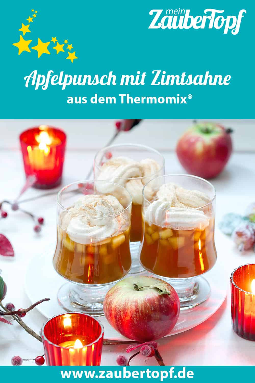 Apfelpunsch mit Zimtsahne aus dem Thermomix® – Foto: Ira Leoni