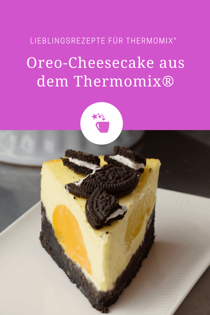Oreo Cheesecake Mit Pfirsichen Rezept Fur Den Thermomix