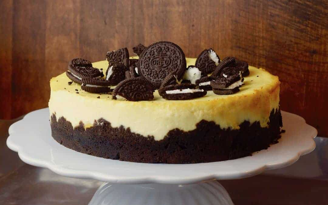 oreo cheesecake mit pfirsichen rezept f r den thermomix. Black Bedroom Furniture Sets. Home Design Ideas