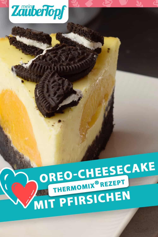 Oreo-Cheesecake mit Pfirsichen aus dem Thermomix® – Foto: Nicole Stroschein