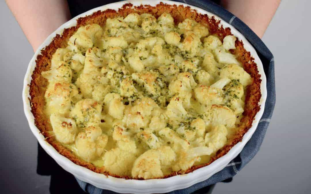 Blumenkohl-Pie mit Süßkartoffeln