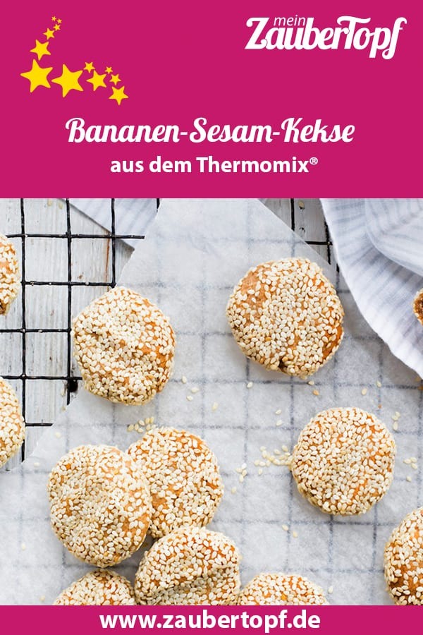 Bananen-Sesam-Kekse aus dem Thermomix® – Foto: Sophia Handschuh
