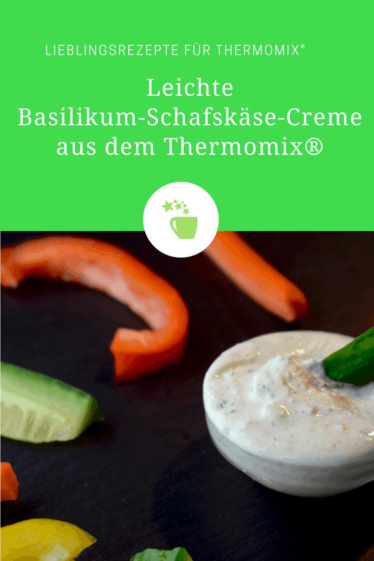 Leichte Basilikum-Schafskäse-Creme aus dem Thermomix® – Foto: Nicole Stroschein