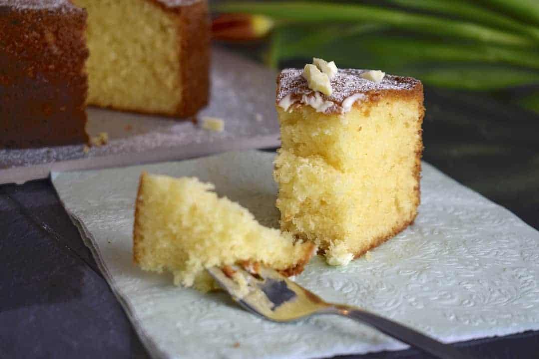 Weißer Schokoladenkuchen aus dem Thermomix® – Foto: Nicole Stroschein