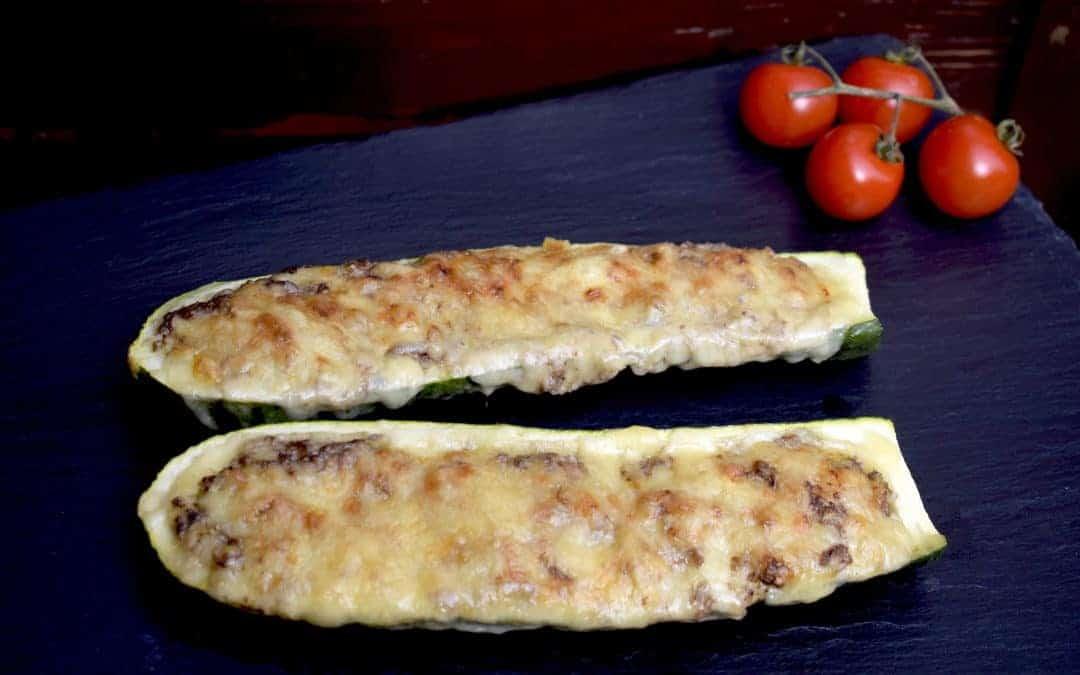 Gefüllte Zucchini mit Walnüssen