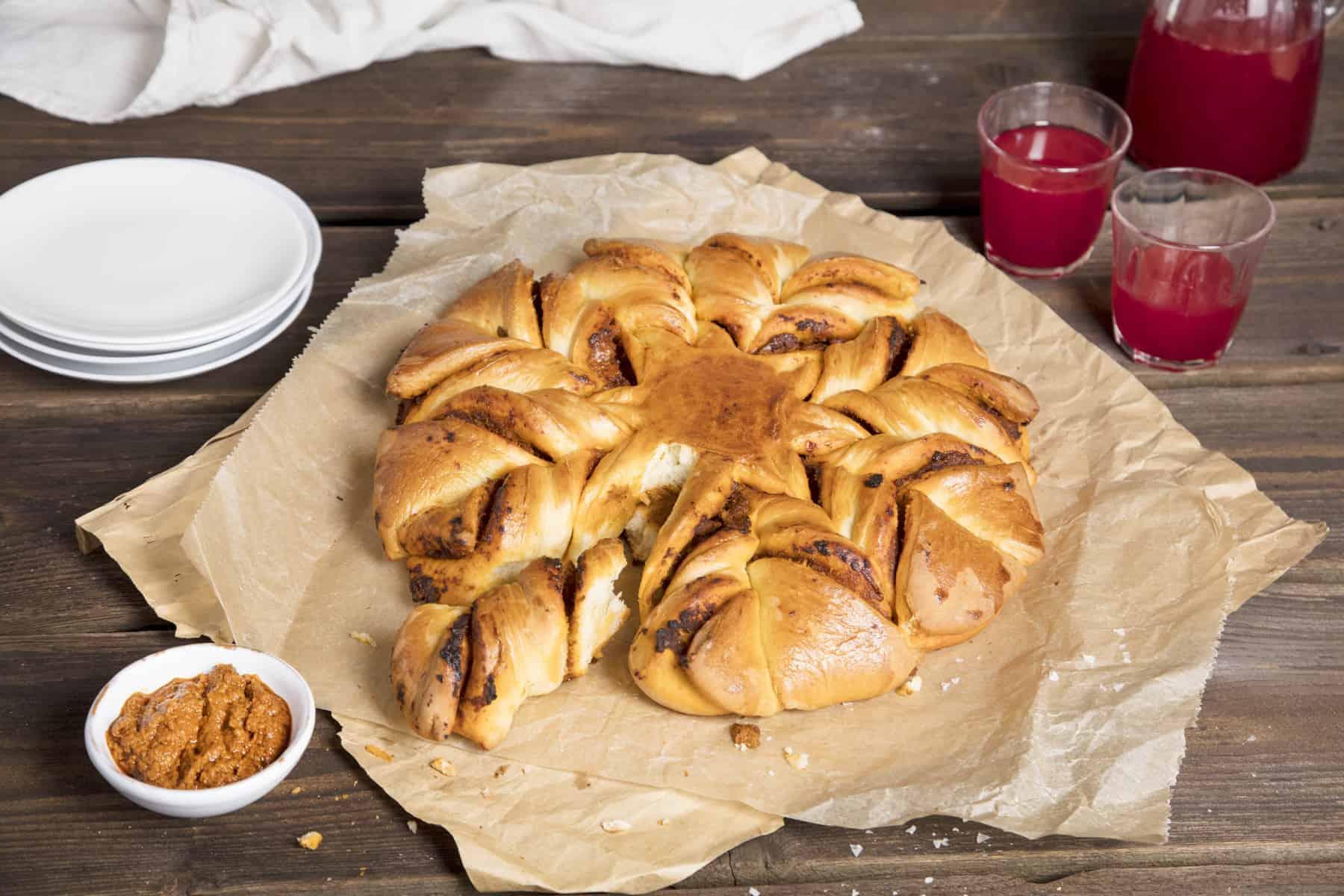 Brotblume mit Pesto aus dem Thermomix® – Foto: Kathrin Knoll