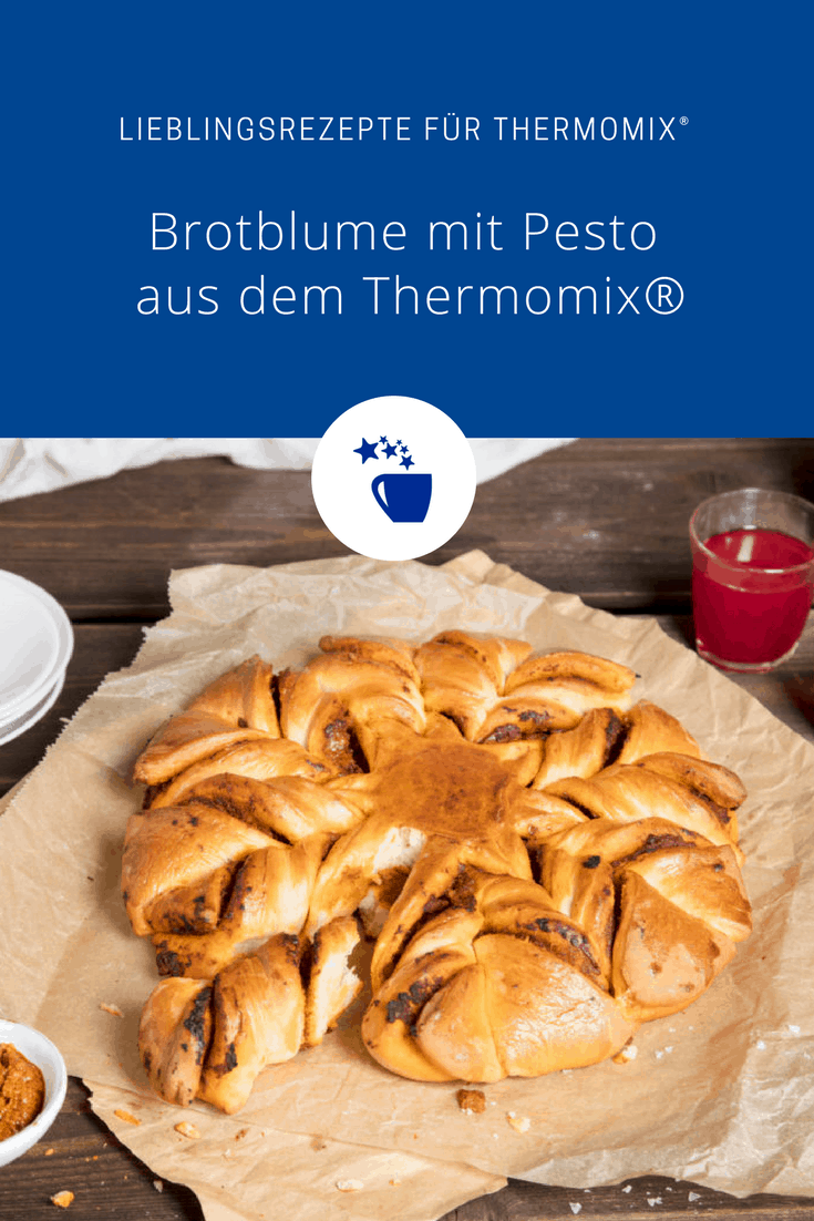 w rzige brotblume mit pesto rezept f r den thermomix. Black Bedroom Furniture Sets. Home Design Ideas