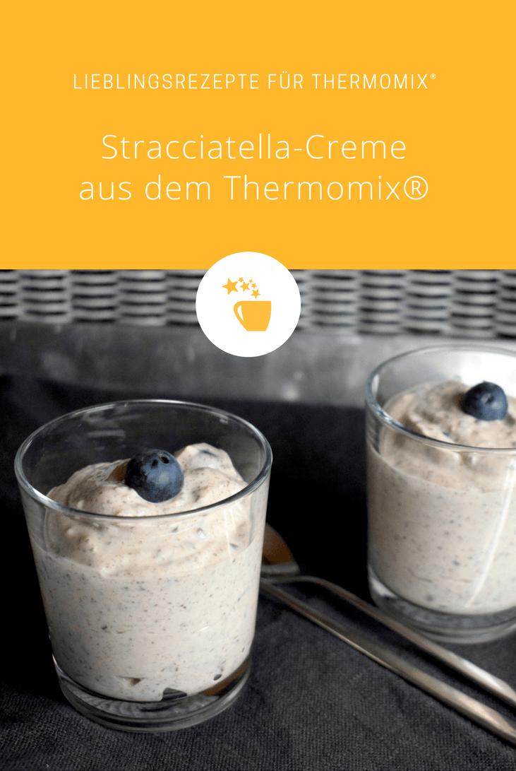 Stracciatella-Creme mit Blaubeeren aus dem Thermomix® – Foto: Nicole Stroschein