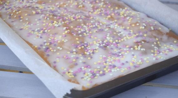 Blechkuchen mit Birne aus dem Thermomix® – Foto: Nicole Stroschein