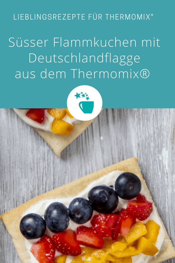Flammkuchen mit Deuschlandflagge für Pinterest - Foto: Anna Gieseler