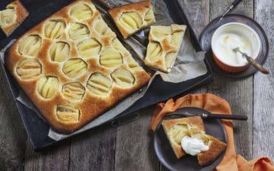 Apfelkuchen mit Grieß