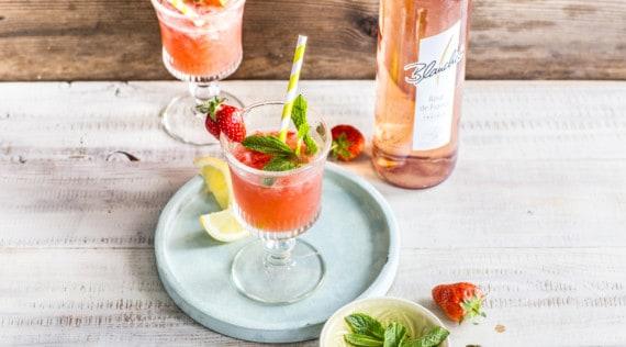 Wein-Slushie mit Erdbeeren und frischer Minze aus dem Thermomix® – Foto: Blanchet