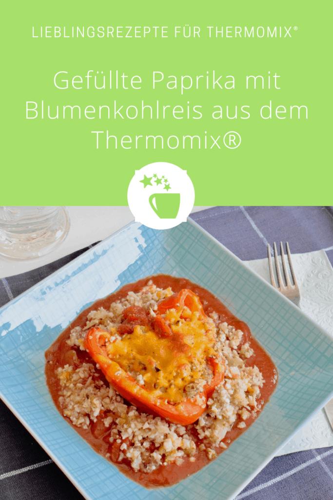 Gefüllte Paprika mit Blumenkohl-Reis aus dem Thermomix® –Foto: Nicole Stroschein