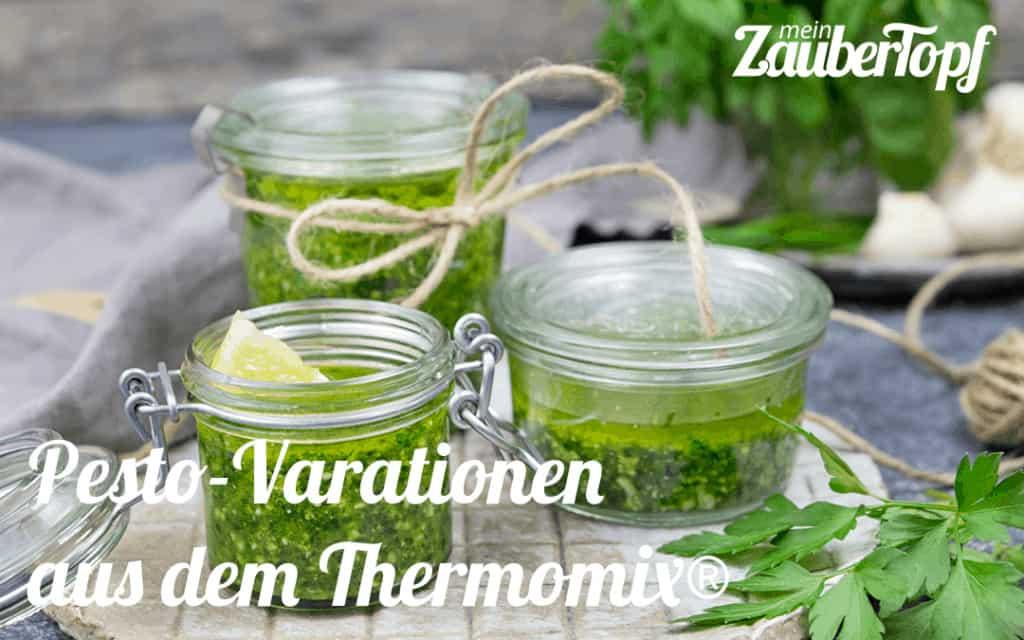 Pesto-Varationen aus dem Thermomix® - Foto: Désirée Peikert