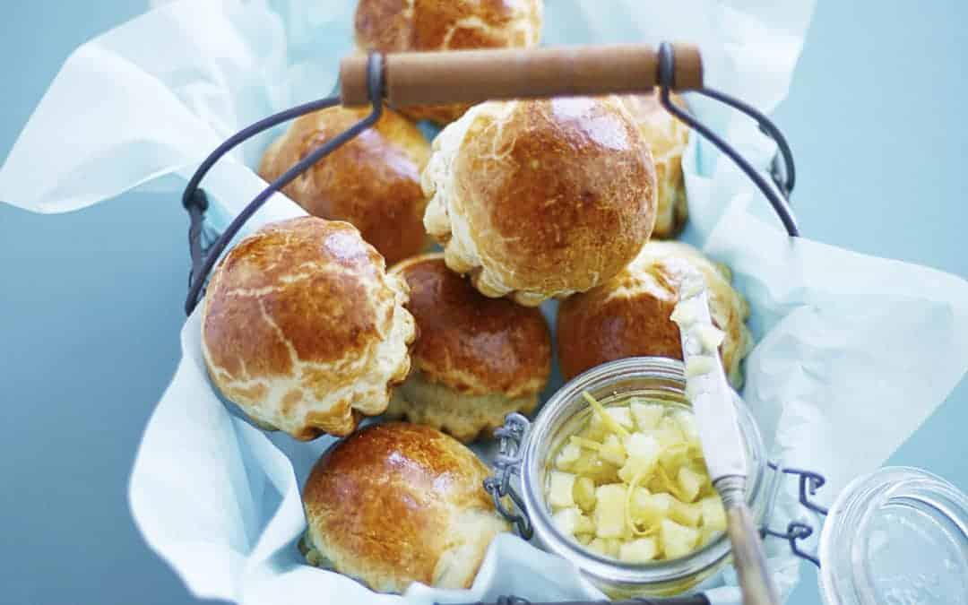 Brioche mit Apfel-Zitronenmarmelade