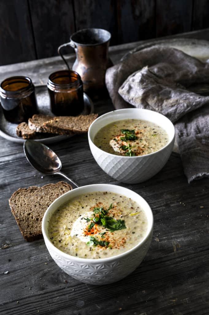 Käse-Lauch-Suppe mit Hackfleisch - mein ZauberTopf