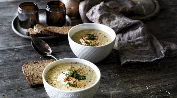 Käse-Lauch-Suppe mit Hackfleisch aus dem Thermomix® – Foto: Tina Bumann