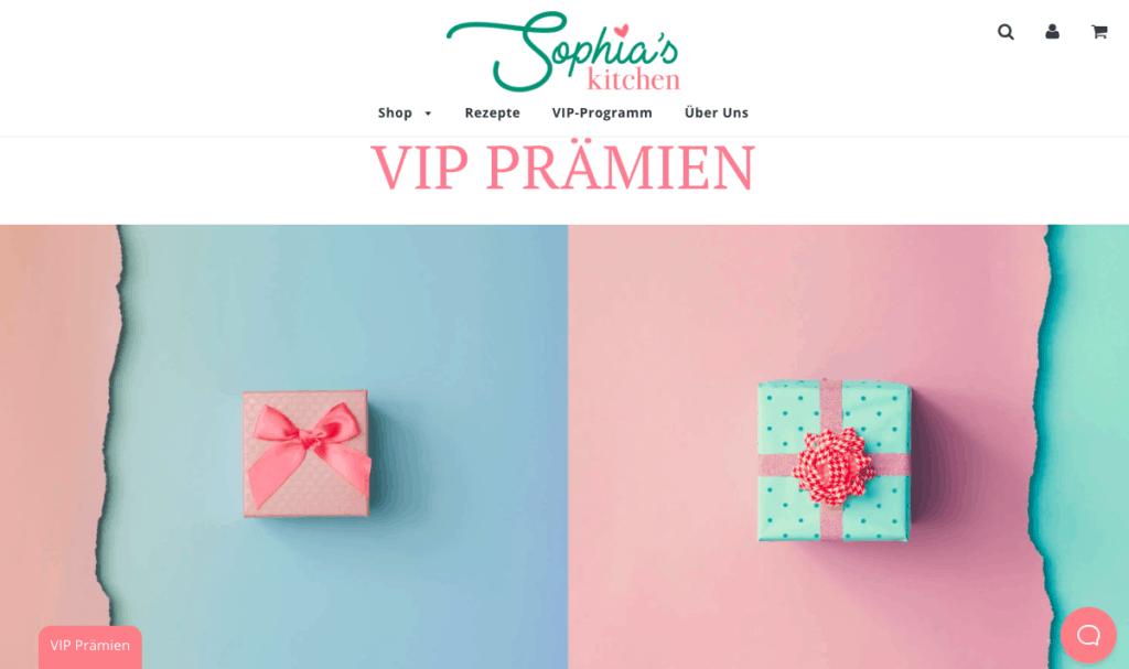 Sophia's Kitchen VIP-Programm