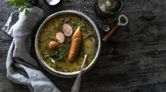 Linsensuppe mit Bockwurst aus dem Thermomix® – Foto: Tina Bumann