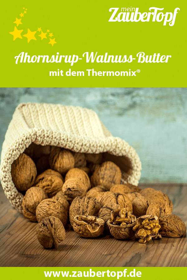 Ahornsirup-Walnuss-Butter aus dem Thermomix® – Foto: Pixabay