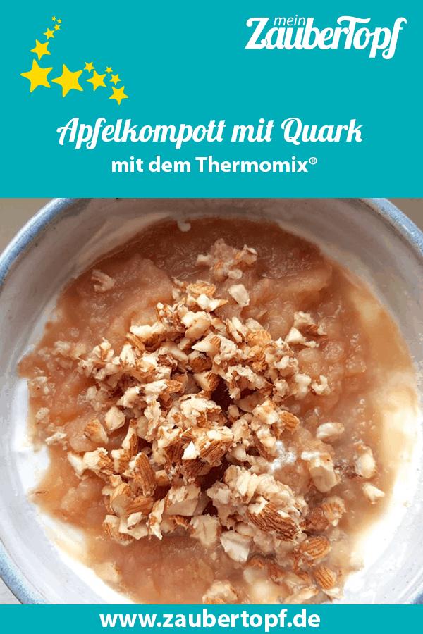 Apfelkompott mit Quark und Mandeln aus dem Thermomix® –Foto: Nicole Stroschein