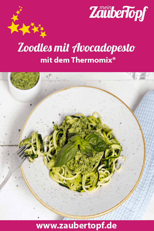 Zoodles mit Avocadopesto aus dem Thermomix® – Foto: Anna Gieseler