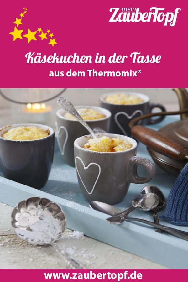 Käsekuchen in der Tasse – Rezept für den Thermomix® – Foto: Frauke Antholz