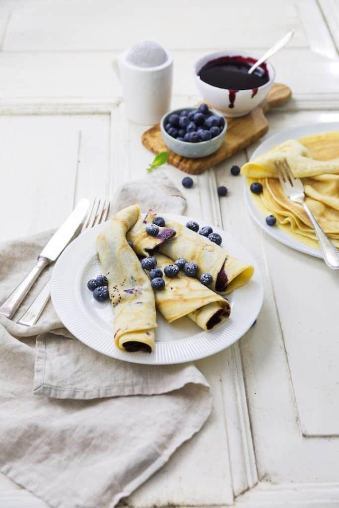 Pfannkuchen mit Blaubeeren aus dem Thermomix® – Foto: Désirée Peikert