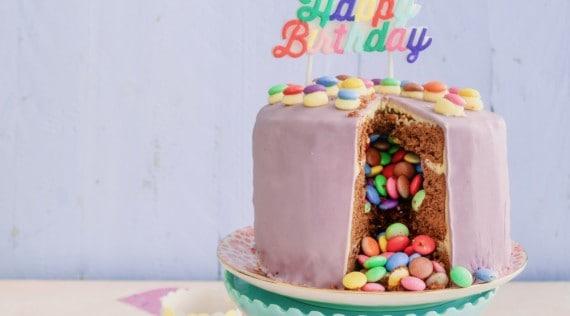 Torten mit dem Thermomix®: Piñata-Geburtstagstorte –Foto: Tina Bumann