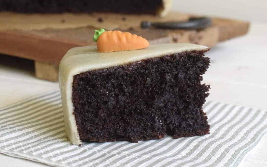 Saftiger Karottenkuchen mit Schokolade