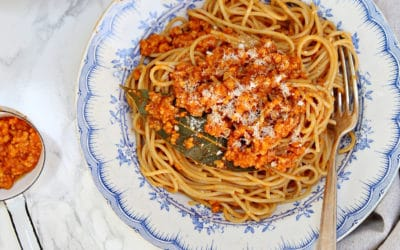 Spaghetti Bolognese mit Soja-Hack