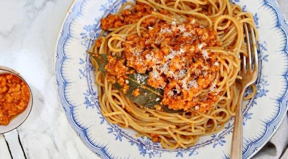 Spaghetti Bolognese mit Soja Hack aus dem Thermomix® - Foto: Alexandra Panella