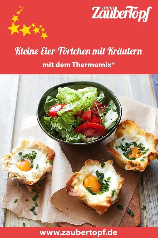 Eier-Törtchen mit Kräutern aus dem Thermomix® –Foto: Ira Leoni