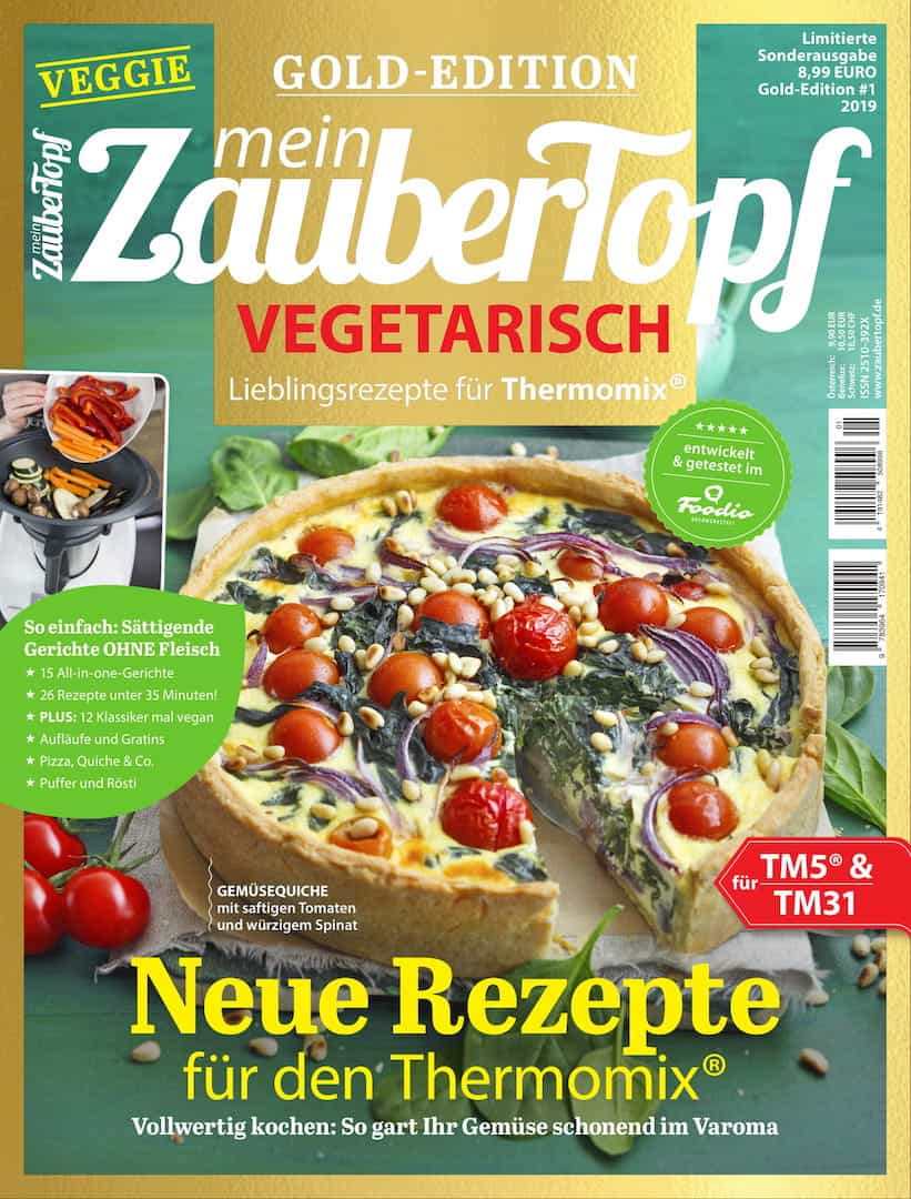 Die mein ZauberTopf Gold-Edition Vegetarisch – Titelfoto: Ira Leoni