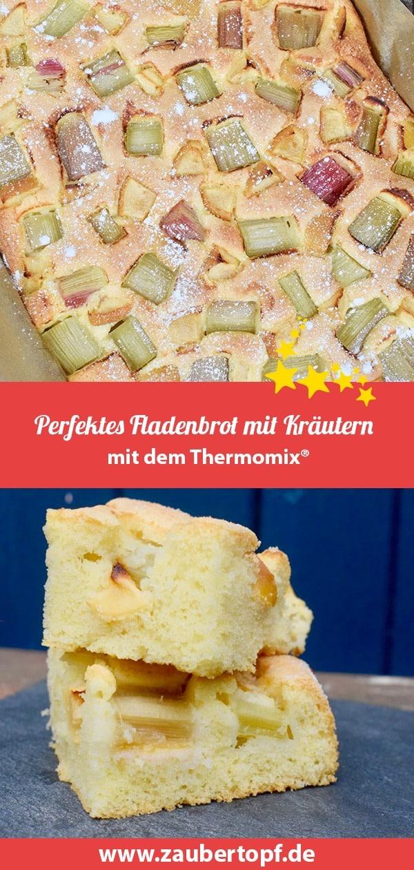 Rhabarberkuchen mit Apfel aus dem Thermomix® –Foto: Nicole Stroschein