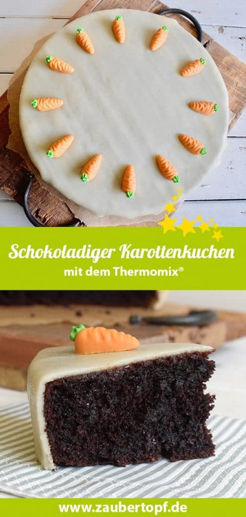 Schokoladiger Karottenkuchen aus dem Thermomix® – Foto: Nicole Stroschein